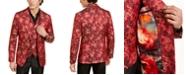 Tallia Orange Men's Slim-Fit Red/Gold Floral Dragon Evening Jacket & Vest Separates