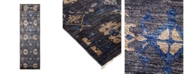 """Nourison CLOSEOUT! Timeless Rug Designs One of a Kind OOAK1689 Slate 3' x 9'9"""" Runner Rug"""