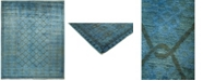 """Timeless Rug Designs CLOSEOUT! One of a Kind OOAK736 Turquoise 8'10"""" x 11'6"""" Area Rug"""