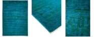 "Timeless Rug Designs CLOSEOUT! One of a Kind OOAK791 Teal 6'3"" x 9'1"" Area Rug"