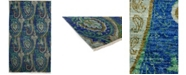 """Timeless Rug Designs CLOSEOUT! One of a Kind OOAK3933 Sapphire 5' x 8'6"""" Area Rug"""