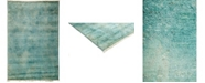 "Timeless Rug Designs One of a Kind OOAK3156 Teal 4'1"" x 6'2"" Area Rug"