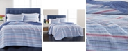 Martha Stewart Collection Reversible Poppy Flora Quilt Sets, Created For Macy's