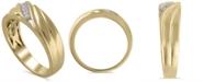 Macy's Men's Certified Diamond (1/6 ct. t.w.) Ring in 14K Yellow Gold