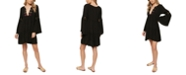 O'Neill Juniors' Salt Water Solids Crochet Bell-Sleeve Cover-Up Dress