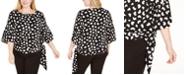 Michael Kors Plus Size Ruffle-Sleeve Tie-Waist Top