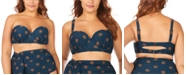 Raisins Curve Trendy Plus Size Juniors' Maritime Printed Underwire Bikini Top
