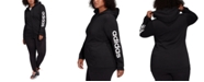 adidas Plus Size Logo-Print Zip-Up Hoodie