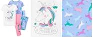 Carter's Little & Big Girls 4-Pc. Unicorn Cotton Pajamas Set