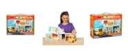 Melissa and Doug Melissa Doug 106-Piece MAGNETIVITY Magnetic Building Play Set – School with School Bus Vehicle 16 Panels, 83 Accessory Magnets