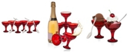 Godinger CLOSEOUT! Dublin Red 12 Piece Tasting and Drinking Set