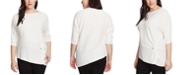 Vince Camuto Plus Size Twisted Ribbed Sweater