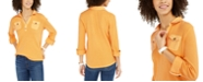 Tommy Hilfiger Waffle-Knit Popover Top