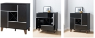 Furniture of America Jule Storage Wine Bar Cabinet