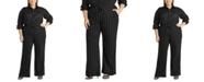 Lauren Ralph Lauren Plus-Size Pinstripe Wide-Leg Pants