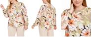 Nine West Plus Size Floral-Print Top