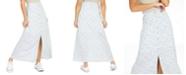 Be Bop Juniors' Floral-Print Button-Up Maxi Skirt