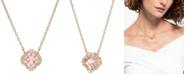 """Swarovski Rose Gold-Tone Crystal Flower Pendant Necklace, 14-7/8"""" + 2"""" extender"""