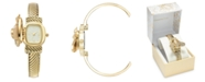 Charter Club Women's Gold-Tone Bee Cover Bracelet Watch 25mm, Created for Macy's