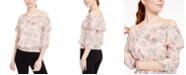 BCX Juniors' Off-The-Shoulder Floral Top