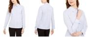 Calvin Klein Pinstriped Cotton Button-Up Shirt