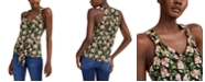 INC International Concepts INC Petite Printed Tie-Front Top, Created for Macy's