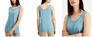 Alfani Solid Scoop-Neck Tank Top, Created for Macy's