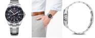Victorinox Swiss Army Men's Fieldforce GMT Stainless Steel Bracelet Watch 42mm