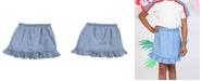 Kinderkind Toddler Girls Pull on Chambray Skirt