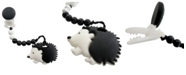 Tiny Teethers Designs Tiny Teether Baby Designs Silicone Teether and Beaded Pacifier Clip, Hedgehog