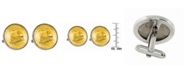 American Coin Treasures Gold-Layered Westward Journey 2004 Keelboat Jefferson Nickel Bezel Coin Cuff Links