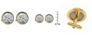 American Coin Treasures 1943 Lincoln Steel Penny Bezel Coin Cuff Links