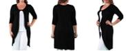24seven Comfort Apparel Women's Plus Size Cardigan