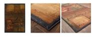 "JHB Design Kismet KIS011 Brown 2'3"" x 4'5"" Area Rug"