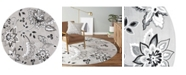 "Global Rug Designs Haven Lane Hal04 Gray 7'10"" x 7'10"" Round Rug"