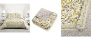 Jessica Simpson Vera Bradley Hummingbird Blooms Yellow Full/Queen Quilt