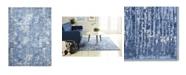 "Global Rug Designs Barstow Bar02 Blue 6'6"" x 9'6"" Area Rug"
