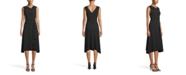 Anne Klein Asymmetrical Drape-Front Dress