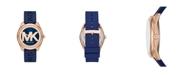 Michael Kors Women's Janelle Three-Hand Navy Silicone Watch 42mm MK7140