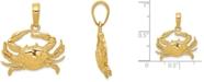 Macy's Crab Charm Pendant in 14k Yellow Gold