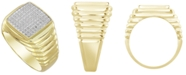 Macy's Men's Diamond (1/4 ct. t.w.) Ring in 10k Yellow Gold