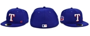 New Era Texas Rangers Jackie Robinson 50th Patch 59FIFTY-FITTED Cap