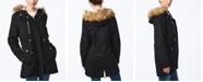 Collection B Juniors' Faux-Fur-Trim Hooded Anorak Coat