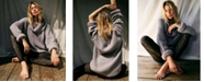 Free People Leo Cowl-Neck Tunic Sweater