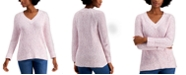Style & Co Marled Pointelle Sweater, Created for Macy's
