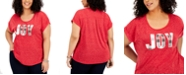 Style & Co Plus Size Embroidered Joy T-Shirt, Created for Macy's
