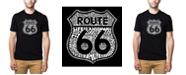 LA Pop Art Men's Premium Word Art - Route 66 Life Is A Highway T-shirt