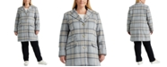 Lauren Ralph Lauren Plus-Size Plaid Walker Coat, Created For Macy's