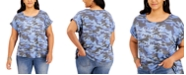 Style & Co Plus Size Peace-Graphic Printed T-Shirt, Created for Macy's