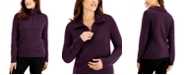 Karen Scott Zippered-Neck Sweater, Created for Macy's